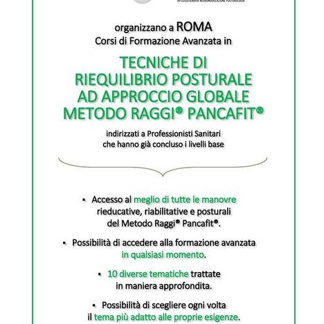 Corsi di Formazione Avanzata in Tecniche di Riequilibrio Posturale ad approccio globale Metodo Raggi® Pancafit®