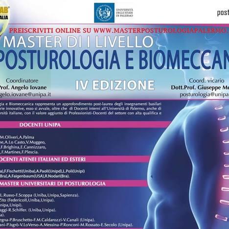 Master in Posturologia e Biomeccanica dell'Università degli studi di Palermo