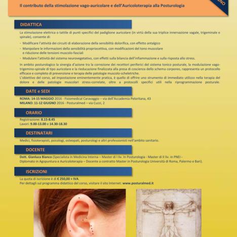 Corso base in Neuromodulazione Auricolo-Posturale®