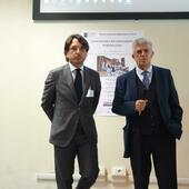 Settembre 2019. Giancarlo Bazzoni e Gianluca Bianco durante il XXXIV Congresso SIRAA di Asti presentano la International Auricular Neuromodulation Society IANMA