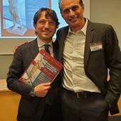 Gianluca Bianco con Edsel Bittencourt durante il Congresso Ventennale di Posturologia dell'Università Sapienza di Roma