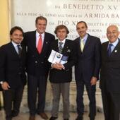 Roma,Novembre2012. Con Francesco Fattapposta,Fabio Scoppa,Albino Sarchioto ed Estelio Dantas al I Congresso Euroamericano di Posturologia