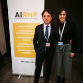 Il Dott. Bianco con la Dott.ssa Di Carlo, responsabile segreteria organizzativa AIRNP