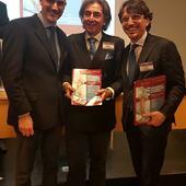 Gianluca Bianco insieme a Fabio Scoppa e Francesco Fattapposta durante il Congresso Ventennale di Posturologia dell'Università Sapienza