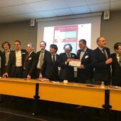 Il tavolo dei relatori e moderatori con il Direttore del Master in Posturologia, Prof. Fattapposta